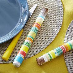 cadeaux de table tube essai masking tape - Decoration Tube A Essai Mariage