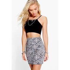 Boohoo Onele Tonal Tile Floral Mini Skirt ($10) ❤ liked on Polyvore featuring skirts, mini skirts, multi, floral midi skirt, bodycon skirt, mini skirt, body con skirt and mid-calf skirt