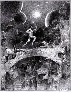 Enki Bilal (b. Grand Prix, Art Et Illustration, Illustrations, Bilal Enki, Science Fiction, Art Blanc, Bd Comics, Black And White Illustration, White Art