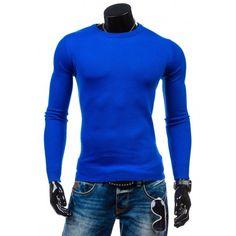 b475c1dddd10 Pánsky sveter kráľovsky modrej farby - fashionday.eu