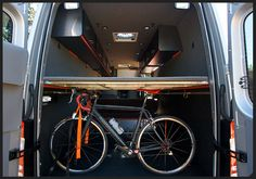 Sprinter Van Conversions for biking | going to be something similar to this on my conversion. I gotta ...