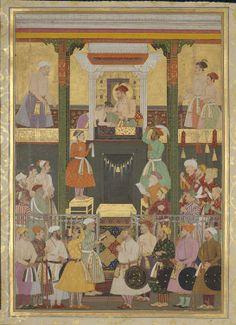 The Departure of Prince Shah-Shuja' for Kabul March Mughal Miniature Paintings, Mughal Empire, Indian Artist, Illuminated Manuscript, Historian, Islamic Art, Book Art, Vintage World Maps, Miniatures