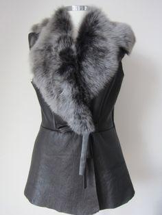 sheepskin gilet - Google Search Fur Coat, Google Search, Leather, Jackets, Fashion, Down Jackets, Moda, Fashion Styles, Fashion Illustrations