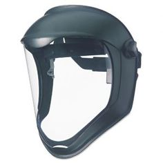 Mask Uvex Bionic Face Shield - Polycarbonate, Foam - Black, Clear @ OfficeSuppy.com $20 (Could be adapted for Tali Cosplay)