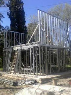 construccion de viviendas,steel framing,steel frame,procrear Metal Stud Framing, Steel Framing, Fine Home Building, Building A House, Framing Construction, Casas Containers, Still Frame, Frame Light, Prefabricated Houses