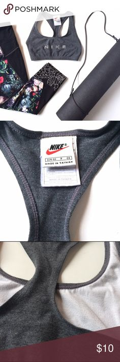 Nike Sports Bra Cute Nike sports bra on good preloved condition. Some piling on the inside from washing, please see photos. Nike Tops