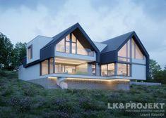 Architektur // Architecture House project: LK & 1474 - Exclusive HOUSE project: Life at the highest Bungalow Exterior, Bungalow House Design, Duplex House, Modern Farmhouse Exterior, Dream House Exterior, Modern Bungalow, Modern Barn House, Contemporary House Plans, Luxury Modern House