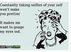 I am a selfie-hater.