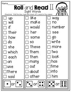 Dolch Sight Words: Free Flash Cards and Lists for Dolch
