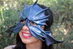 OOaK Merfolk Leather Mask Oddfae by Schiller by masquerfae on Etsy, $120.00