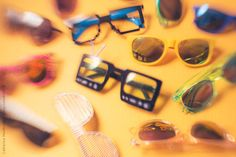 Colourful Glasses Collection... by CatMacBride | Stocksy United
