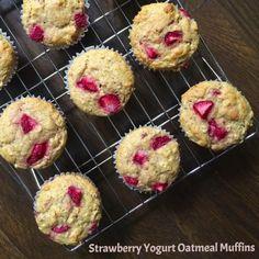 Strawberry Oat and Yogurt Muffins - The Lemon Bowl