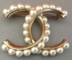 2013 Classic CC Chanel pearl brooch.