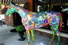 Painted Gallopalooza horse at restaurant in Old Louisville ...