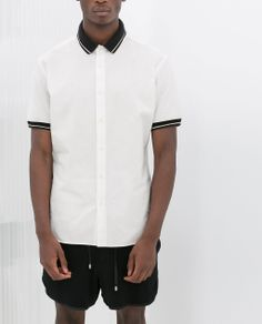 ZARA - NEW THIS WEEK - PIQUÉ SHIRT WITH CONTRASTING COLLAR