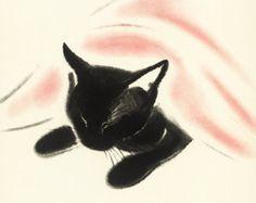 Cat Nap Print (Baby Nursery Decor Art Print) Cat Home Decor, Playroom Wall Art, Vintage Black Cat Illustration to Frame) No. I Love Cats, Crazy Cats, Cute Cats, Cat Drawing, Painting & Drawing, Black Cat Illustration, Cat Illustrations, Black Cat Art, Black Cats