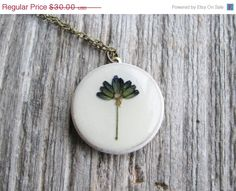 Pressed Lavender Necklace Real Dried Lavender Flower by KateeMarie, $22.50