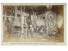 The heavy turnery and smith shop at John Penn's factory, 1863, Unknown