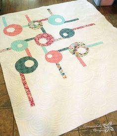 Tic Tac Whoa! Quilt by Jen Eskridge | ReannaLily Designs