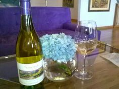 Chardonnay and flowers
