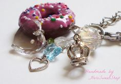 Kawaii Donut Purse Charm Polymer Clay Food Charm by HoriSweetShop, ¥1500