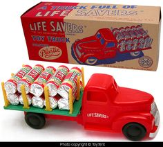Life Savers Candy delivery truck - 1950s by Marx toys - USA