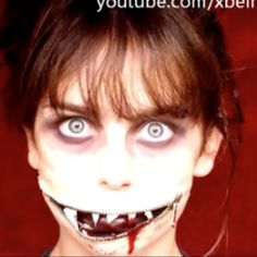 scary halloween makeup tutorial video - plus more scary ideas on this site!