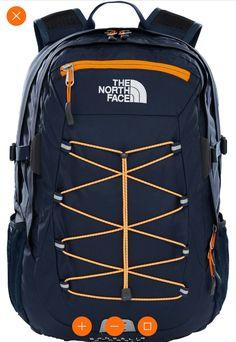 The North Face Borealis Classic daypack blauw oranje