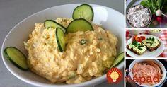 Najlepšie nátierky na obložené chlebíky alebo slané chuťovky. Vyskúšajte sviežu mrkvovú, chrenovú alebo krémovú vajíčkovú nátierku. Skutočne sa oplatí ochutnať každú jednu! Guacamole, Risotto, Zucchini, Dips, Grains, Food And Drink, Vegetables, Ethnic Recipes, Spreads