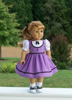 """Maryellen's School Dress with Optional Saddle Shoes-  1950's Clothing for American Girl  or Other 18"""" Dolls"""
