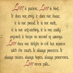 | Love Is Patient Love Is Kind | Wall Decals - Trading Phrases; I want this scripture on the inside of my forearm.