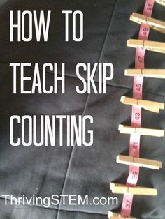 Here's a nice post on teaching skip counting using a visual kinesthetic approach.