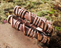 Mens Kupferring rustikale Kupferring Antiqued von MateriaMorfosi