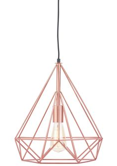 This elegant Antwerp Pendant Lamp is by hip Dutch designers It's about RoMi. It's bang on trend with its clean lines and geometric cage design.  The Antwerp Pendant light with its contemporary framework form