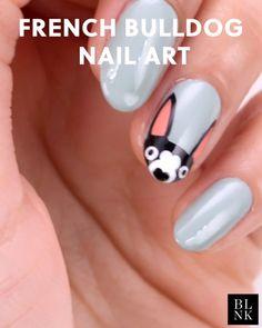 French Bulldog Nail Art Tutorial 5 practical ways to apply nail polish without errors Es Cute Nails, Pretty Nails, Dog Nails, Nail Art Videos, Nail Art Designs Videos, Trendy Nail Art, Nagel Gel, Nail Tutorials, Nail Arts