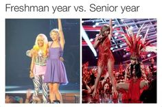 Freshman vs. senior year