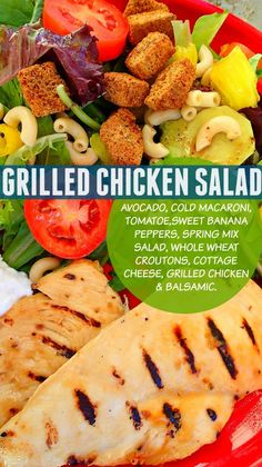 Sweet Grilled Pineapple Balsamic Chicken Salad – Simply Taralynn