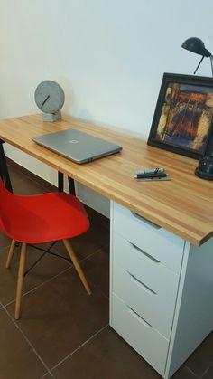 escritorio finger joint eucalipto lustrado cajonera caballete trio diseo en madera
