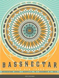 Bassnectar #GigPoster #Band #MusicPoster #LivePoster