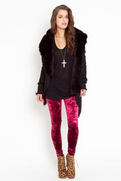 velvet leggings, yes please!