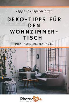 Der funktionale Nutzen als Ablage für Fernbedienungen, Zeitschriften, Getränke und Snacks steht sicherlich an erster Stelle. Schöner wirken jedoch Wohnzimmertische mit ansprechender Dekoration. Hier findest du tolle Tipps und Ideen zum Gestalten! #deko #wohnzimmer #interior #interiordesign #tischdeko #couch #wohntrends #wohnideen #home #einrichten #pharao24 #deko Interiordesign, Divider, Inspiration, Snacks, Room, Furniture, Home Decor, Magazines, Set Of Drawers