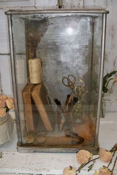 Display case glass showcase observation by AnitaSperoDesign, $140.00