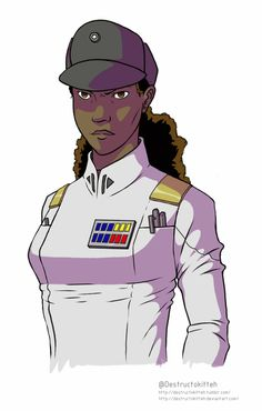 destructokitteh: I modified and coloured the first Rae Sloane piece so that she's in the canon Grand Admiral uniform seen on Thrawn in the new Rebels trailer.