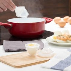 Hard Boiled Egg Cooker — Inspireuptrend Deviled Eggs, Scrambled Eggs, Hard Boiled Egg Cooker, Mini Omelets, Cooking Cup, Plastic Eggs, Egg Cups, Egg Salad, Coco