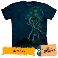 Tricouri The Mountain – Tricou Octopus Mysterious Sea Creatures, Tie Dye T Shirts, Octopus, Mens Tops, Mountain, Products, Fashion, Self, Moda