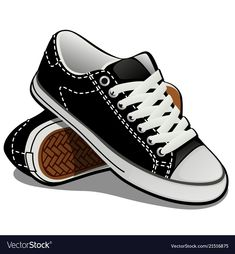 Buy Pair of Sneakers with White Laces Isolated by Lady-Luck on GraphicRiver. A pair of sneakers with white laces isolated on white background.