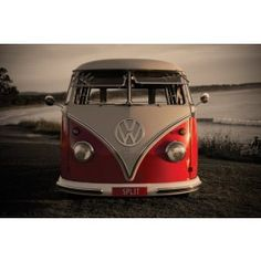 my golden dream to own...(but never cant) - VW Camper Van [ a great place to camp while driving around...]