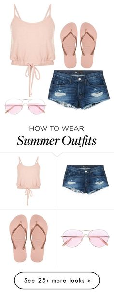 """""""summer outfit #1"""" by olive5000 on Polyvore featuring 3x1, Havaianas and Oliver Peoples"""