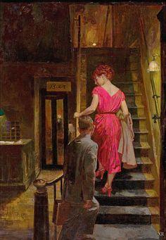 """danismm: """"1951 … 'The Farmers Hotel' - artists: James Avati """""""