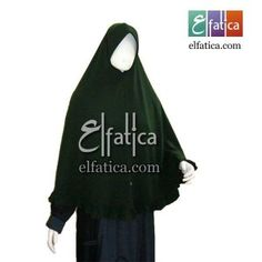 Jilbab syar'i rempel bawah warna hijau botol